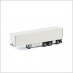 Box Trailer 3 axle  White Line