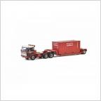 DAF 2600  lowloader  container Van Seumeren