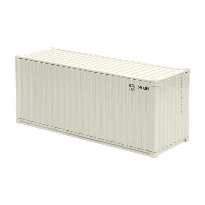 20 Ft See Container cremeweiss