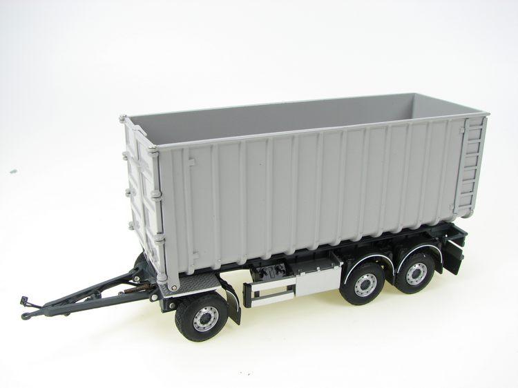 anhaenger mit container mit abrollcontainer tekno 1 50 t. Black Bedroom Furniture Sets. Home Design Ideas