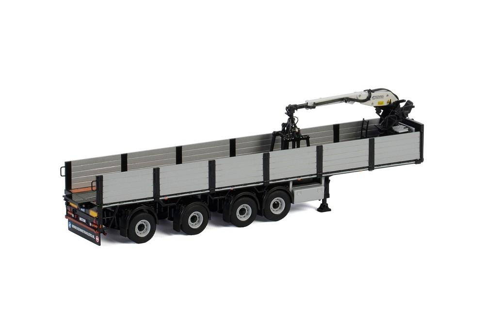 "WSI Models04-2088 Brick Trailer Black 4 Axle /""New/"""