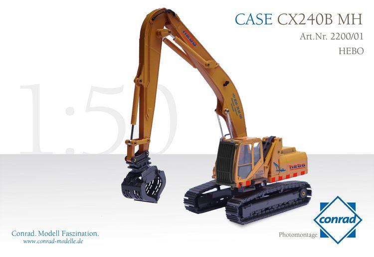 CASE CX240B MH Hydraulikbagger Metallketten Hebo