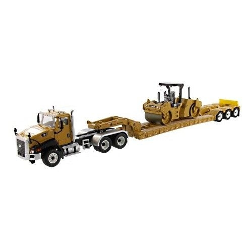 Cat CT660 XL Tiefbettauflieger Cat CB-534D XW Walze