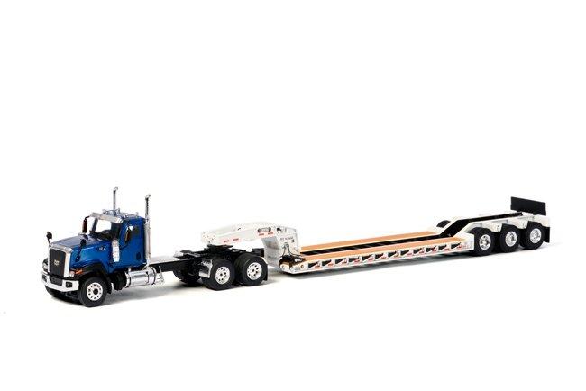 Cat CT680 6x4 Blue Rogers Lowboy  White