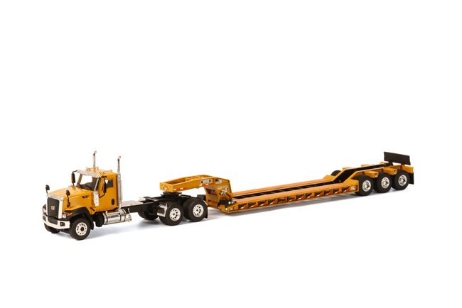 Cat CT680 6x4  Rogers Lowboy  Yellow