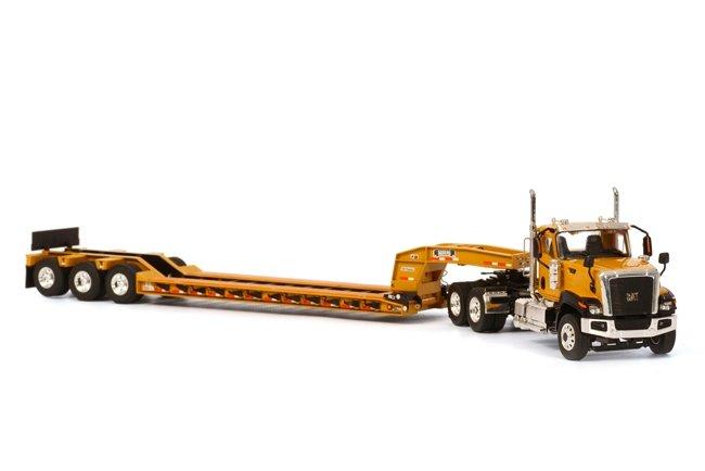 Cat CT680 6x4  Rogers Lowboy  Yellow