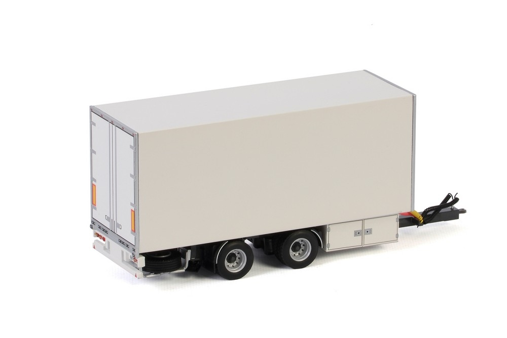Centre Axled Drawbar Box Trailer White Line
