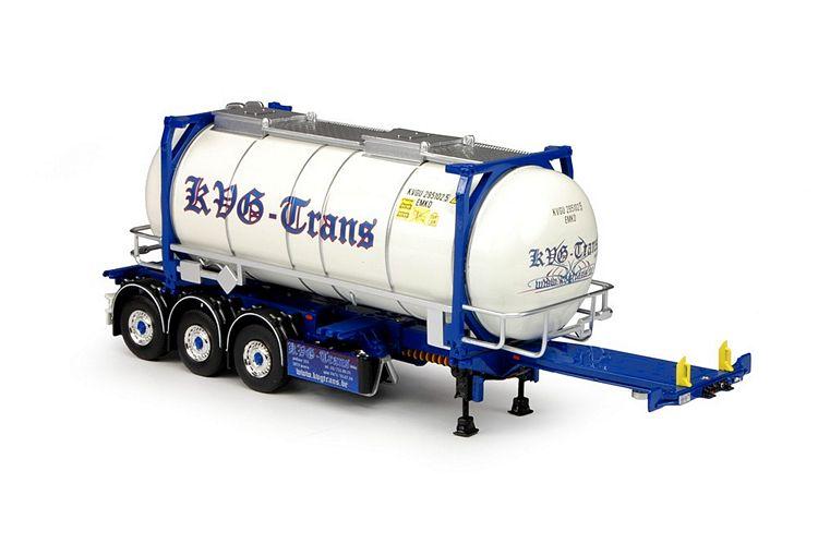 D-Tec Flexitrailer ISO tankcontainer KVG Trans