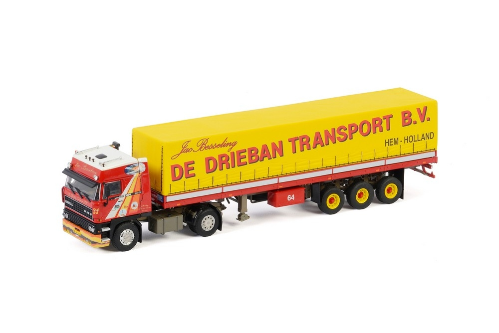DAF 3300 SC Curtainside Trailer  De Drieban Transport
