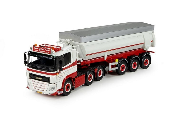 DAF CF LW 3 axle tipper trailer Goderie Tim
