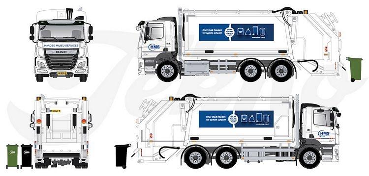 DAF CF Müllwagen  HMS The Hague Umweltservice