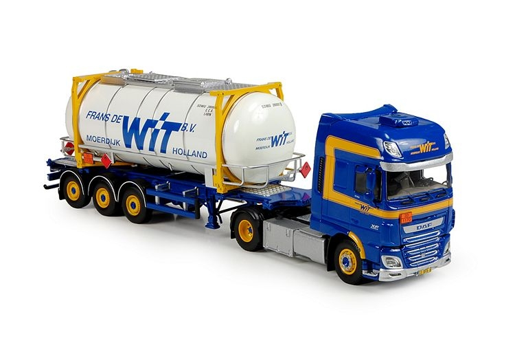 DAF Euro6 XF SSC Swaptank container Wit Frans