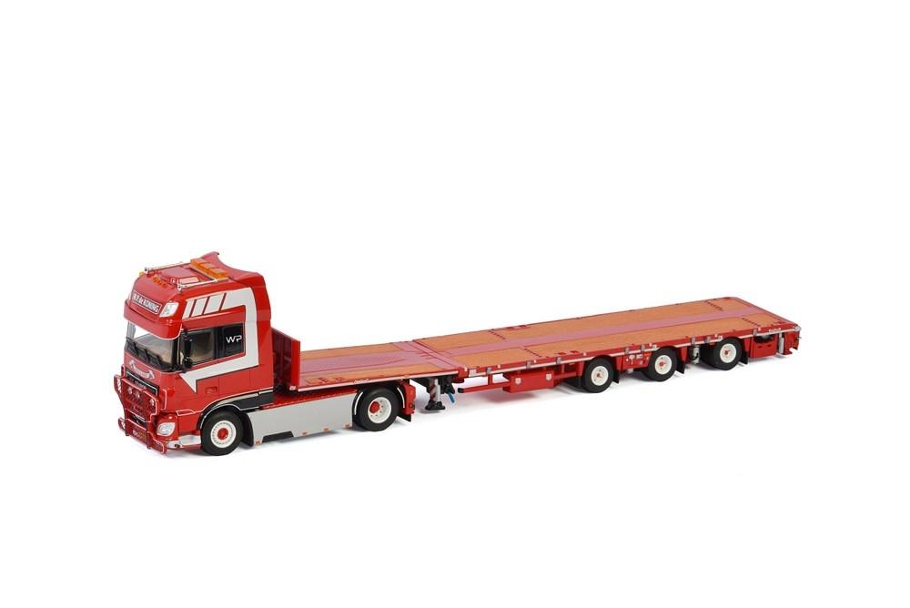 DAF XF SSC Megatrailer Flatbed  W.P. de Koning