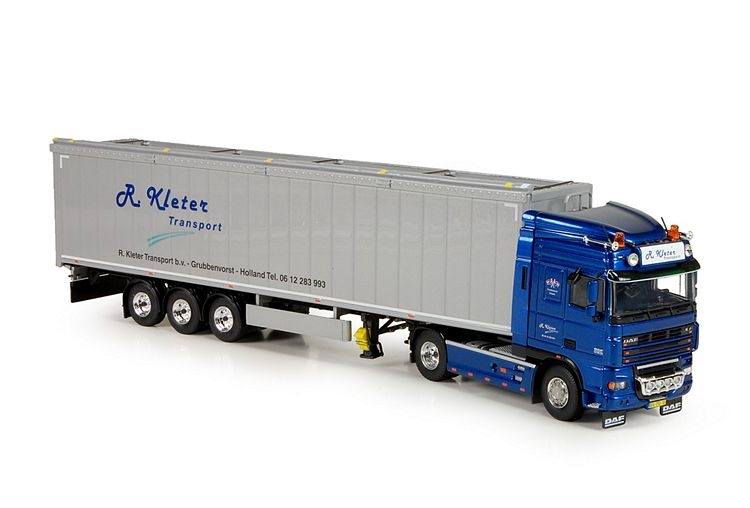 DAF XF105 SC Cargo floor trailer Kleter