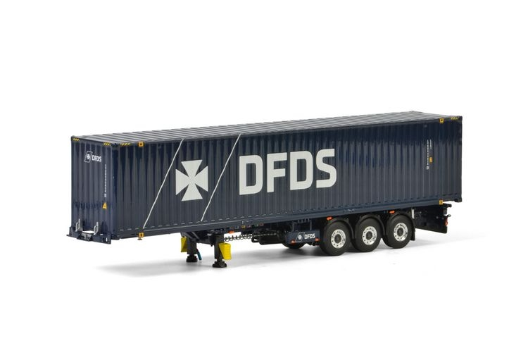 DFDS Copenhagen Container Trailer 3 axle 45FT Container Premium
