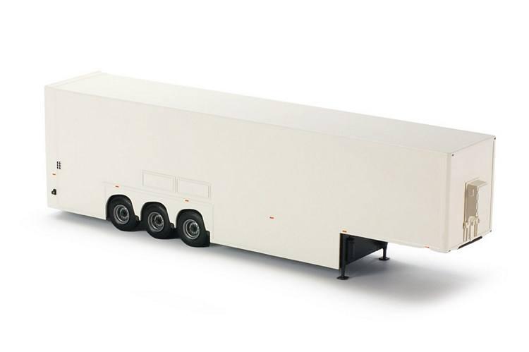 Doppeldeck trailer weiß