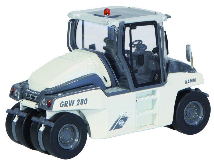 Hamm GRW280 Gummi-Rad Walze weiß