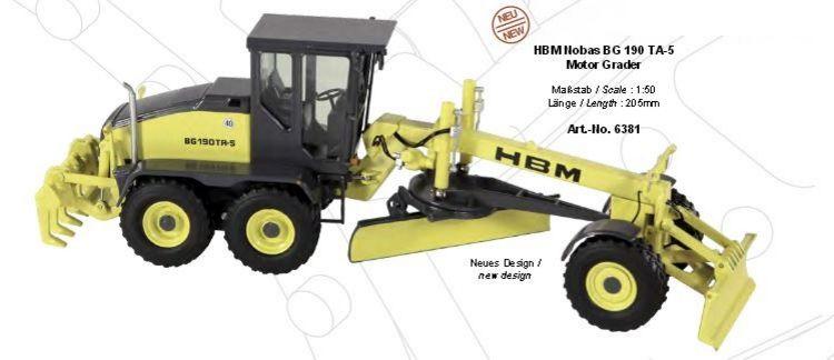 HBM NOBAS BG190 TA-5 Motor Grader