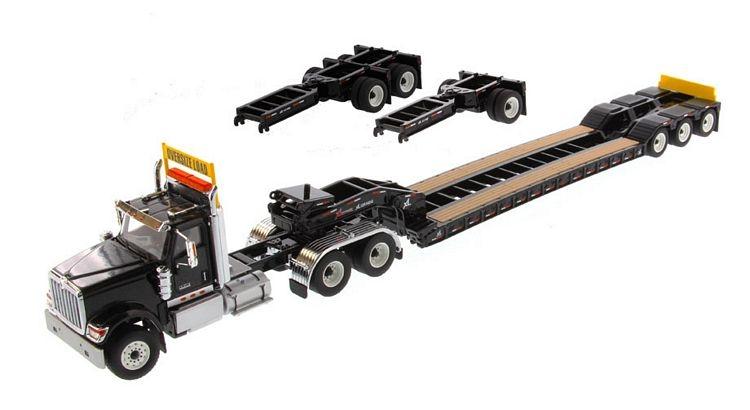 International HX520 Tandem XL 120 Lowboy   Black