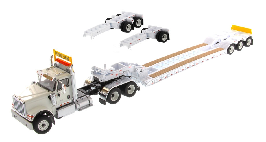 International HX520 Tandem XL 120 Lowboy   White