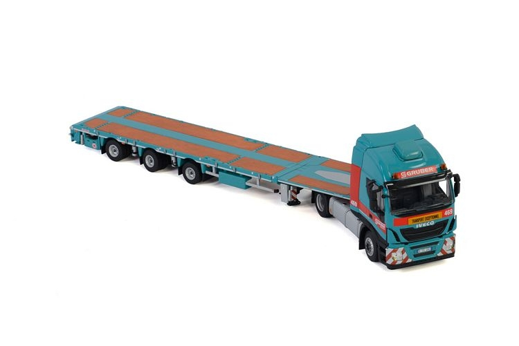 Iveco Stralis  Megatrailer Flatbed Gruber