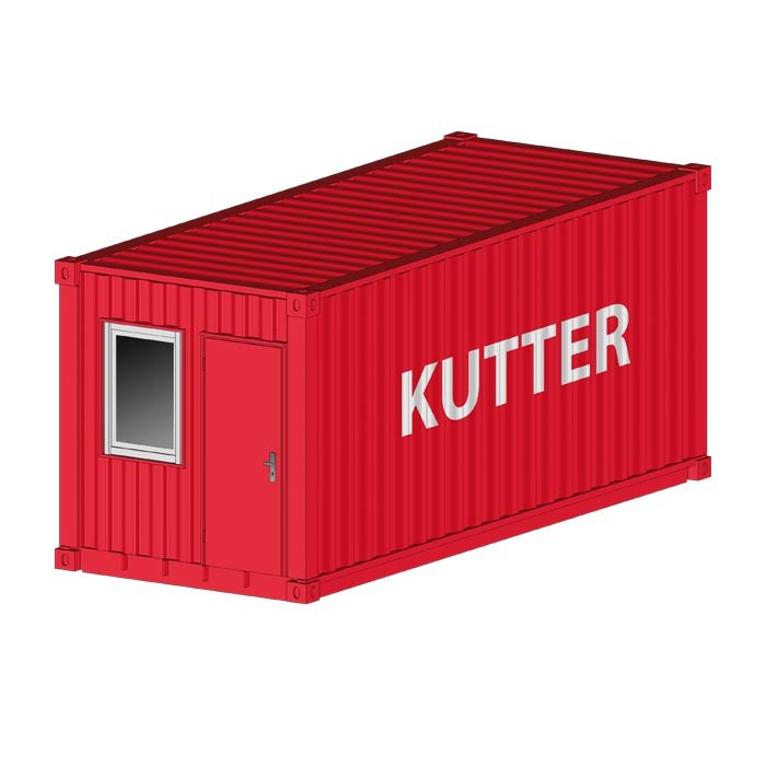 Lager Container rot Kutter