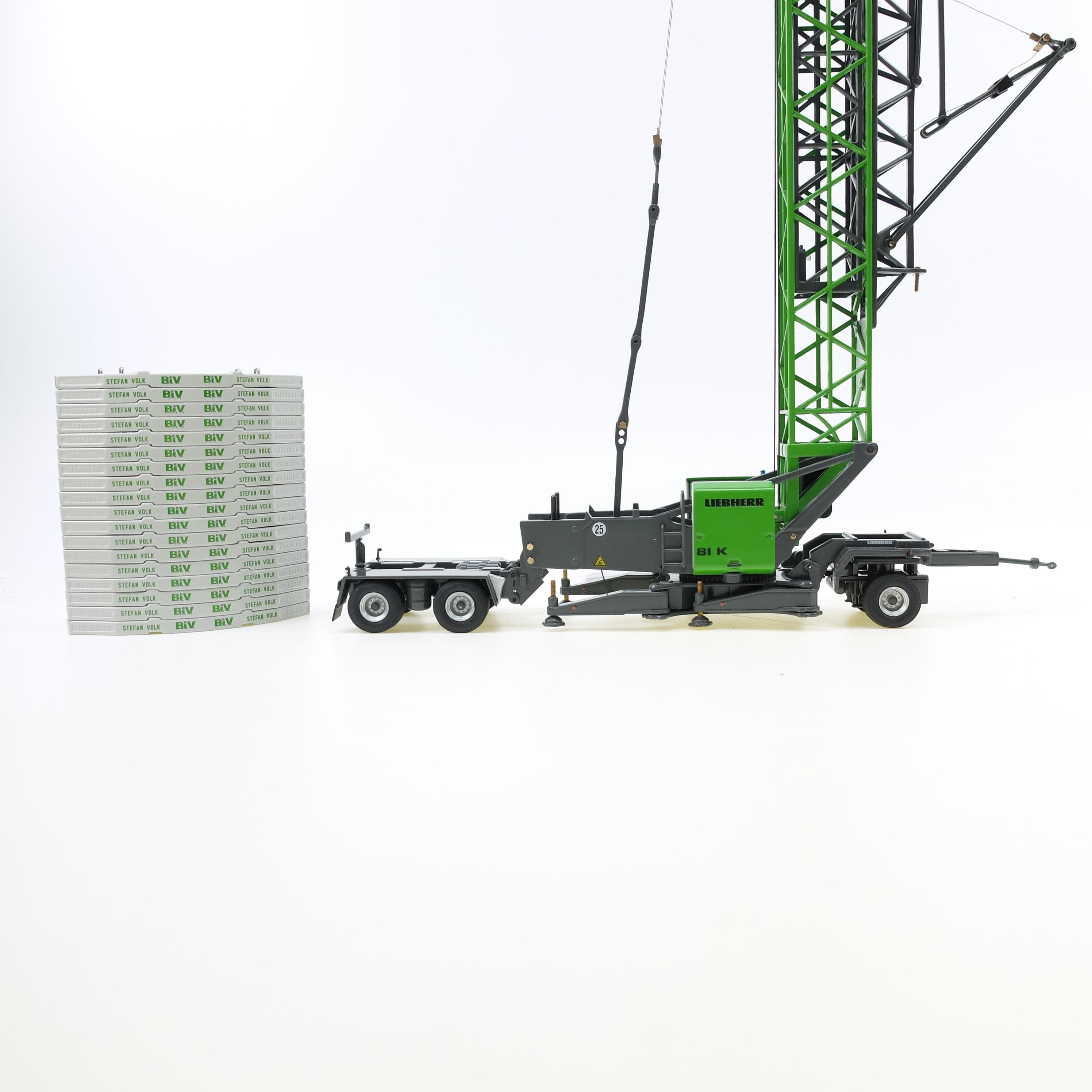 Liebherr 81 K Schnelleinsatzkran Volk Bau + Fahrwerk set