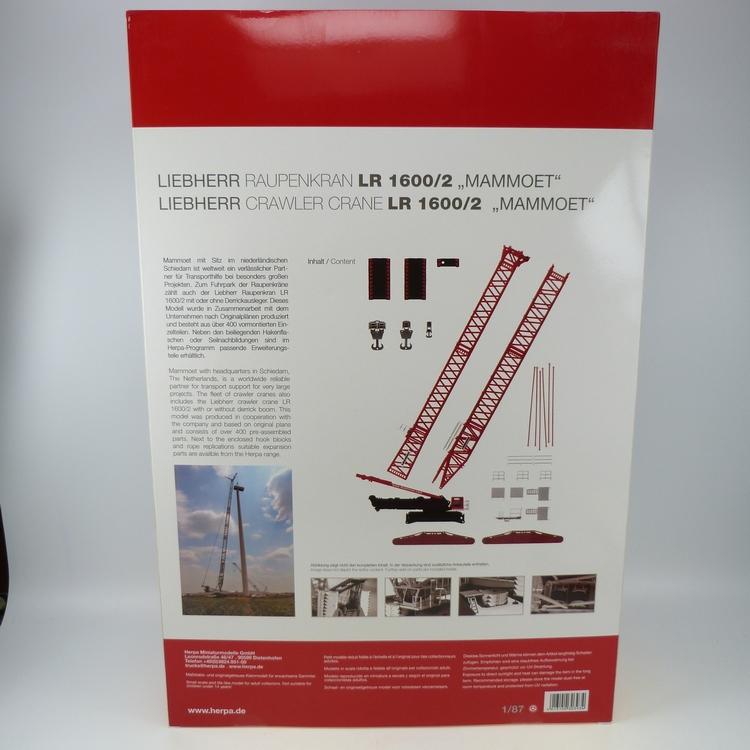 Liebherr LR 1600-2 + Derrick Mammoet 1-78