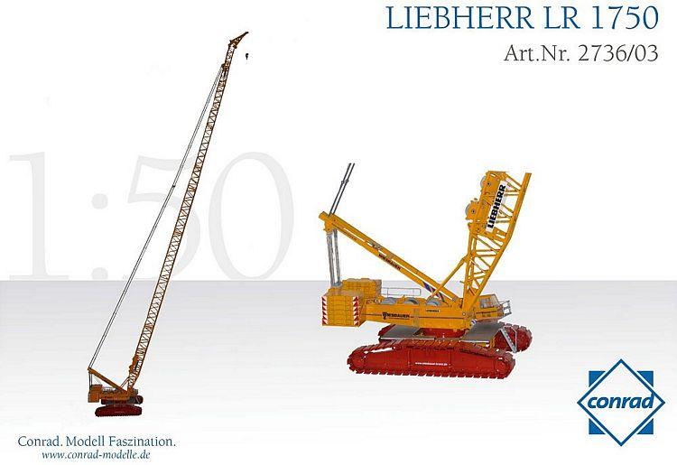 Liebherr LR 1750-1 Raupengittermastkran  Wiesbauer