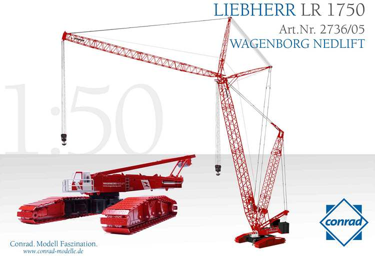 Liebherr LR 1750 Raupengittermastkran Wagenborg