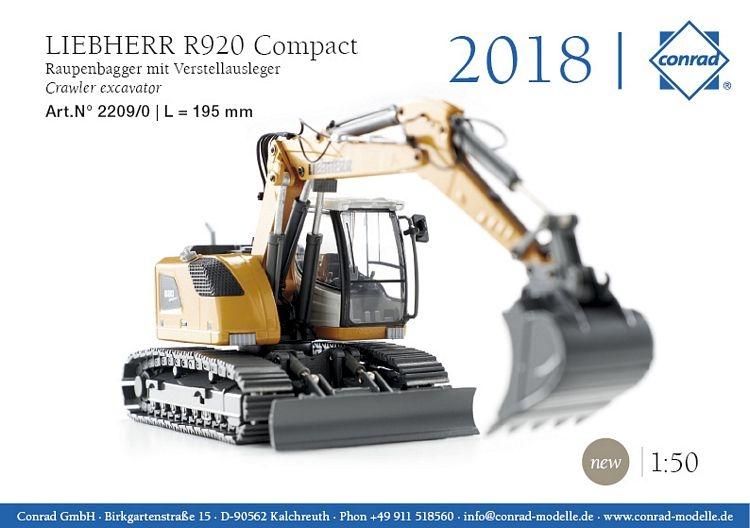 Liebherr R 920 Compact Raupenbagger Verstellausleger