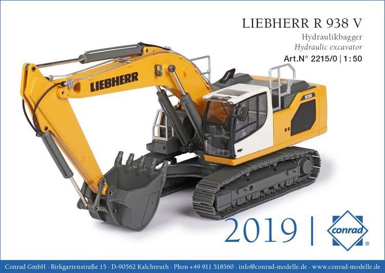 liebherr r 938 v hydraulikbagger conrad modelle 1 50 con. Black Bedroom Furniture Sets. Home Design Ideas