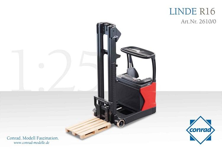 linde r16 schubmaststapler conrad modelle 1 25 con 2610 0 2. Black Bedroom Furniture Sets. Home Design Ideas