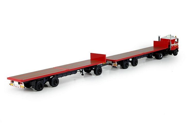 Mack F700 2 flatbed trailer Sedo