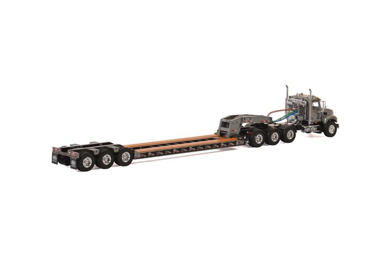 MACK Granite 8x4 Lowboy 3 axle USA Basic Line gray