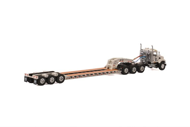 MACK Granite 8x4 Lowboy 3 axle USA Basic Line white