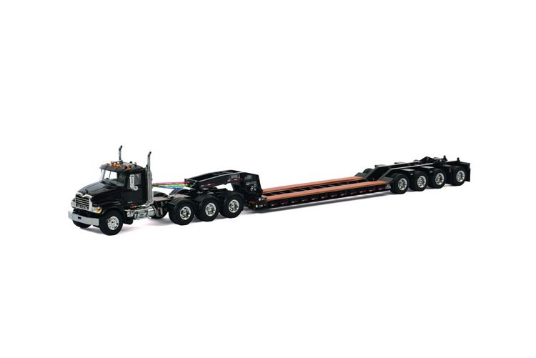 MACK Granite 8x4 Lowboy 4 axle USA Basic Line black