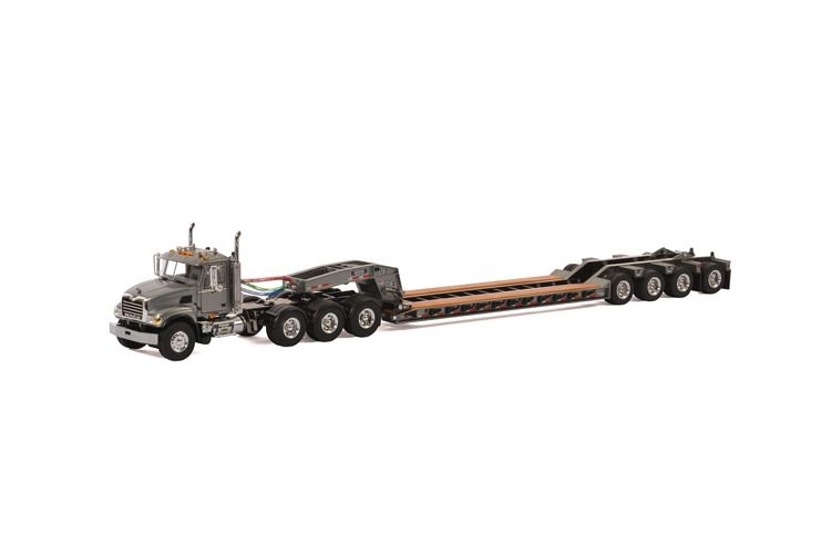 MACK Granite 8x4 Lowboy 4 axle USA Basic Line gray