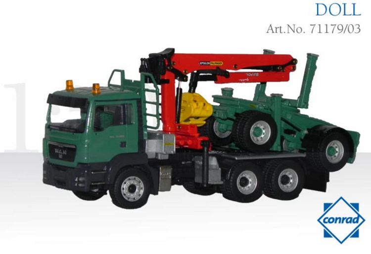 MAN TGS 3-achs Langholzfahrzeug Holztransporter grün