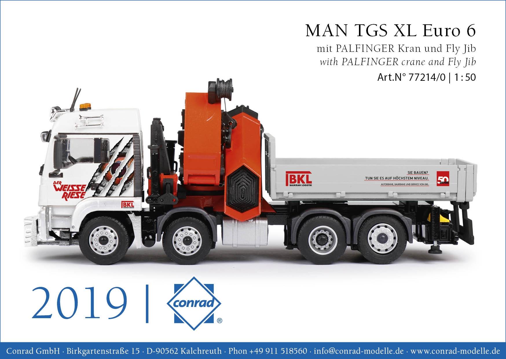 MAN TGS XL Euro 6 mit Ausziehpritsche und PALFINGER PK92002-SH u