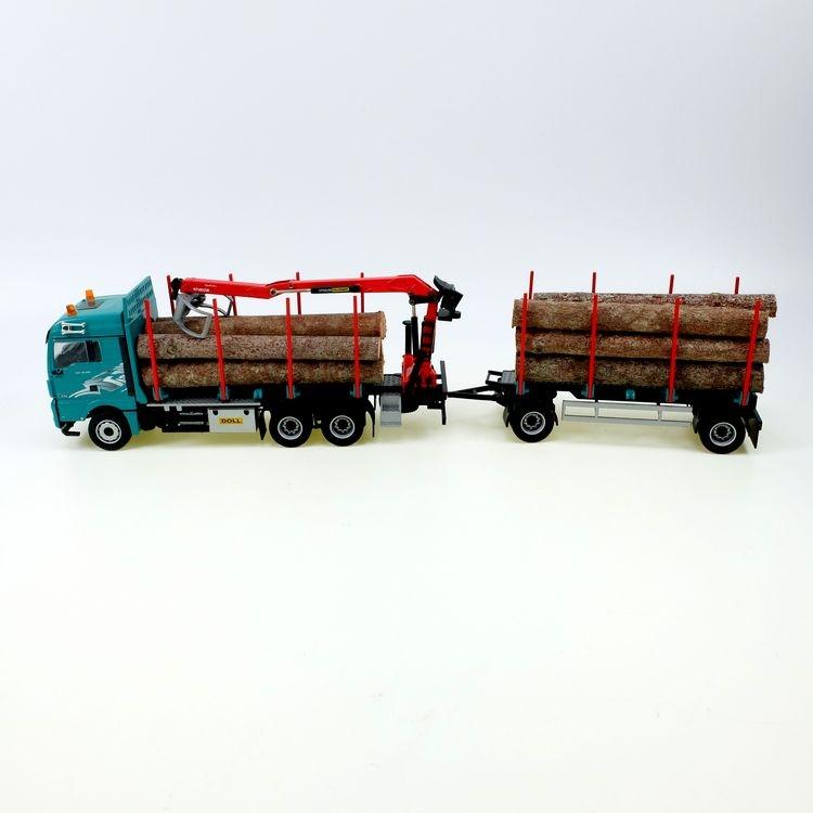 MAN TGX Euro 6 Holztransporter mit Ladekran