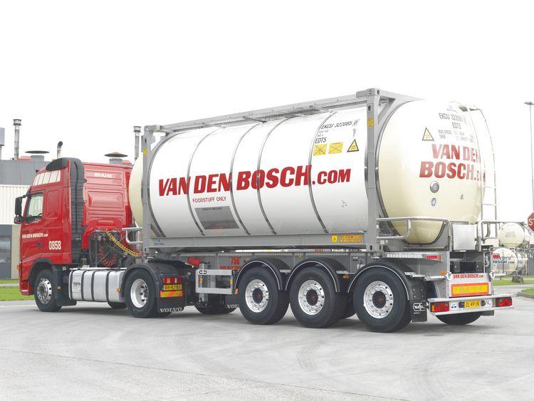 MAN TGX Euro 6 XLX  Tankcontainer Bosch van den