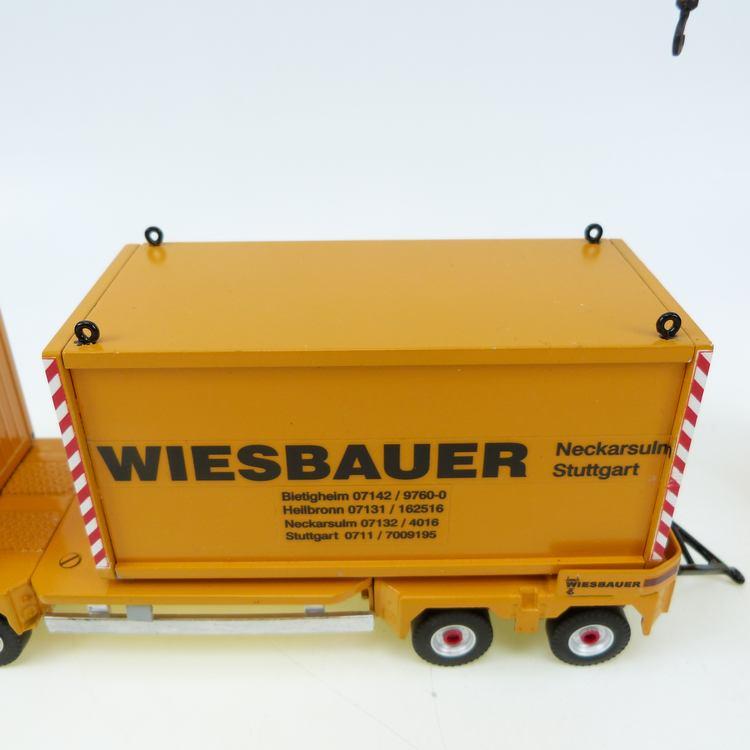MAN TGX PALFINGER PK 100002 WIESBAUER + Tieflader