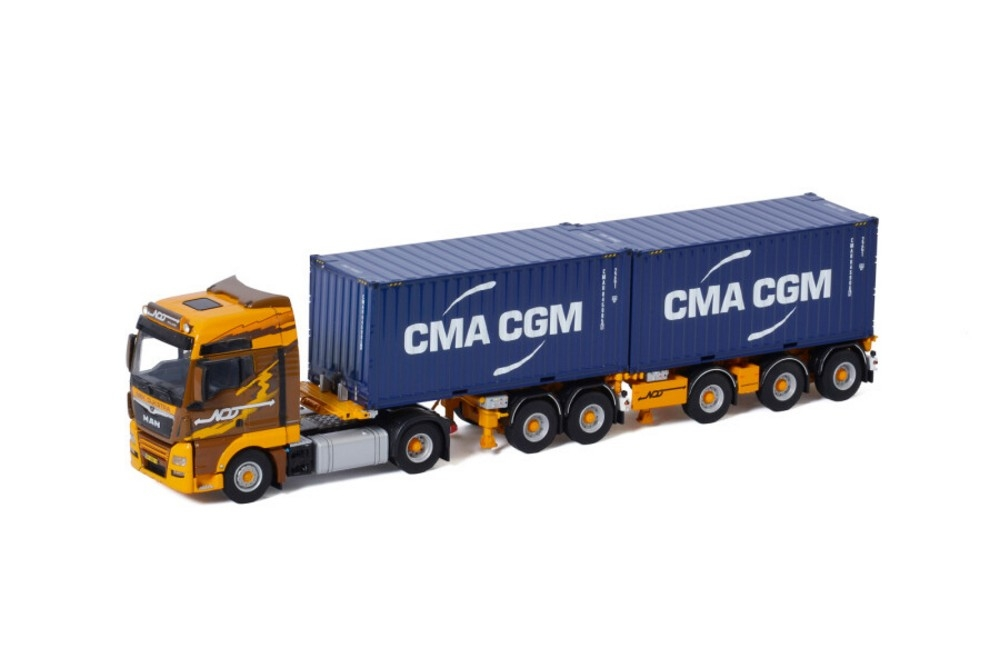 MAN TGX XXL Euro 6C Facelift  Combi Container  Niek Dijkstra