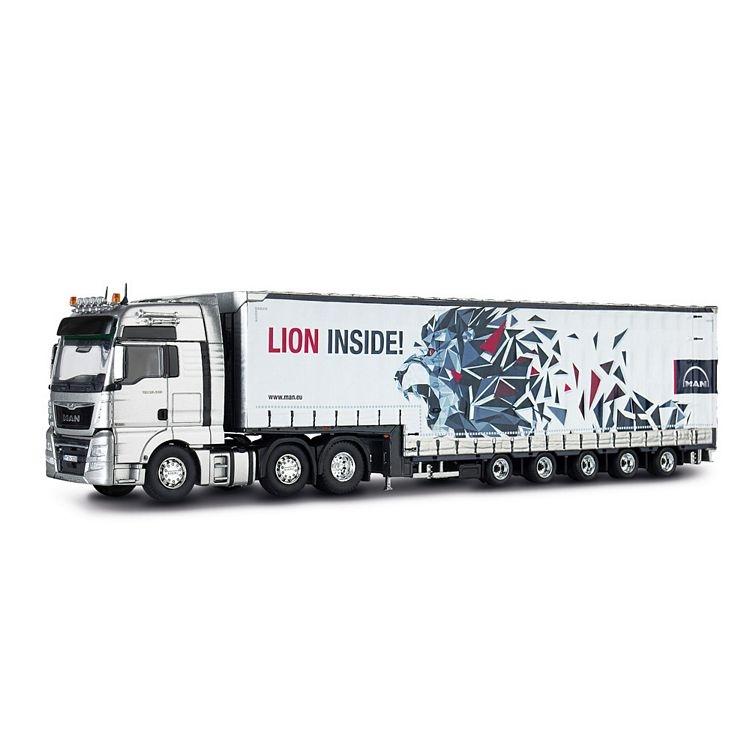 MAN TGX XXL Jumboplanen Auflieger  Lion Inside