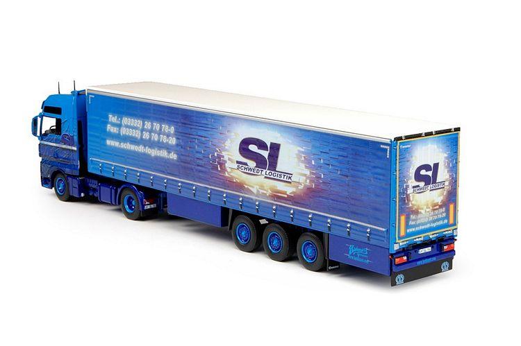 MAN TGX XXL Schiebeplanen Auflieger Schwedt Logistik