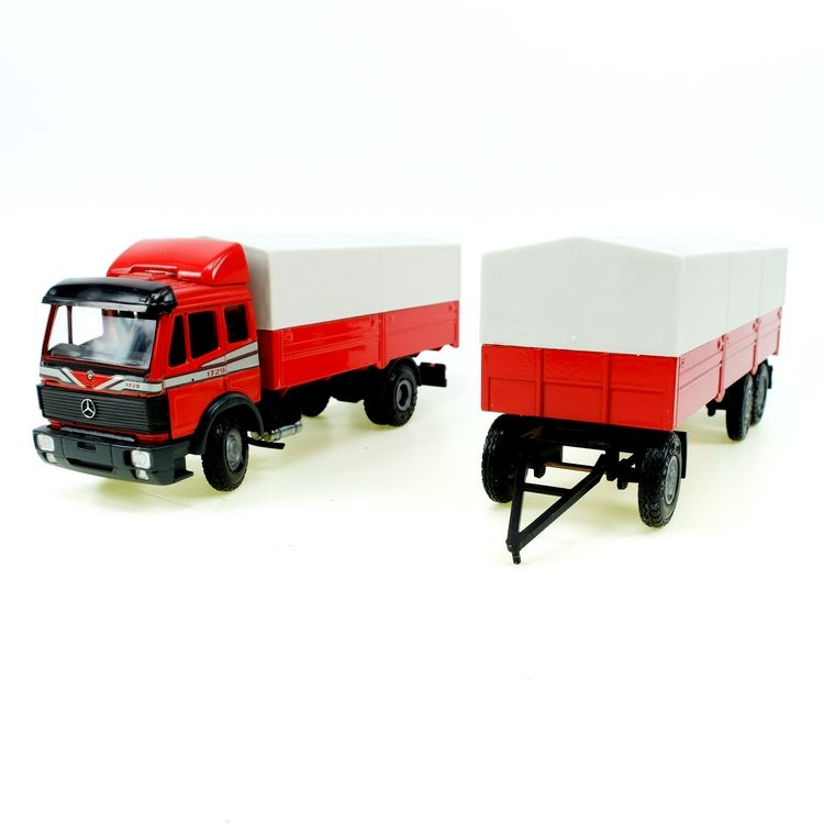 MB 1729 Pritschen-Wagen rot