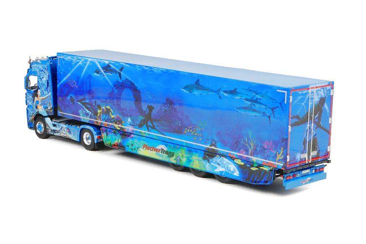 MB Actros Bigspace  Kühlauflieger FischerTrans
