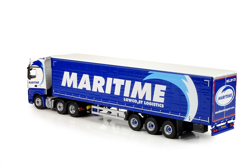 MB Actros Bigspace Schiebeplanenauflieger Maritime