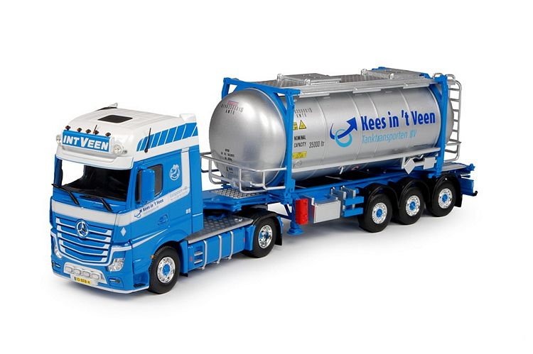 MB Actros Gigaspace ISO tankcontainer Veen In t